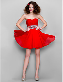 Homecoming Dress - Ruby A-line Sweetheart Short/Mini Chiffon