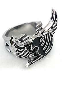 Jewelry Inspired by Fairy Tail Cosplay Anime Cosplay Accessories Ring Silver Alloy Male