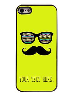 caso bigode e óculos caso design de metal personalizado para iPhone 5 / 5s