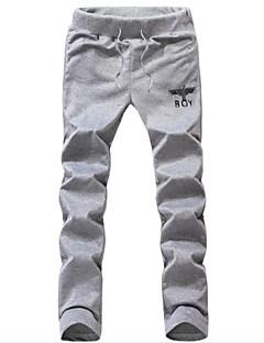 Men's Print Casual / Sport Sweatpants,Cotton / Polyester Black / Blue / Gray
