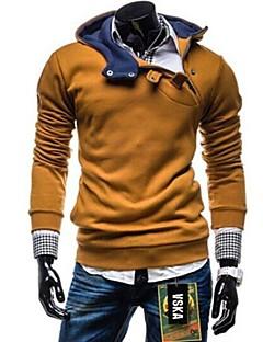 Dlouhé rukávy Dlouhé rukávy - Pánské - Mikiny a svetry s kapucí ( Bavlna/Polyester )