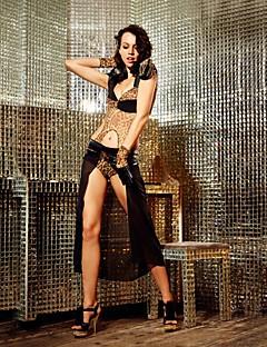 Clubwear Women's Singer Leader Ballroom DS Dancewear Jumpsuit With Gloves