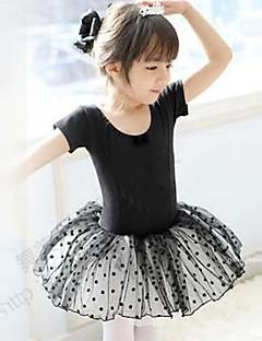 Ballet Dresses Children's Training Cotton Short Sleeve Natural Princess 100:49,110:51,120:53,130:55,140:58,150:61