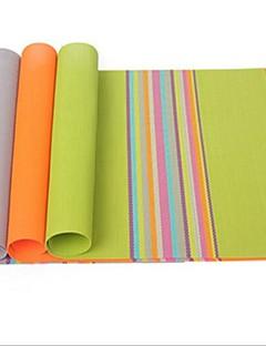 50 pcs Vente en gros arc en ciel coloré mat section d'isolation, seule pvc taille 30 × 45 × 0,4 cm (11,9 × 17,8 × 0,2 pouces) de couleur aléatoire