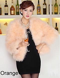 Langærmet krave Ostrich Fur Party / Casual Jacket (flere farver)