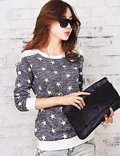 mais novo rendas splicing doce ocasional das mulheres com t-shirt da estrela