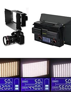 카메라 빛 + 2 * 배터리 LCD 화면 캠코더 비디오 사진에 대한 조절 조명 (312)의 LED에 새로운 led312ds는 이중 색상