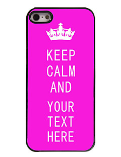 Personalized Case Rose Keep Calm Design Metal Case for iPhone 5/5S