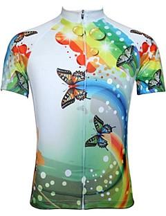 JESOCYCLING Camisa para Ciclismo Mulheres Manga Curta Moto Camisa/Roupas Para Esporte BlusasSecagem Rápida Zíper Frontal Respirável