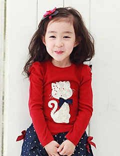 Girl's Blouse,Cotton Winter / Spring / Fall Red / Gray