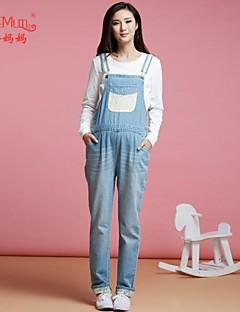 vintermage bukser med fløyel koreansk store kode bib bukser jeans bukser for gravide kvinner gravide
