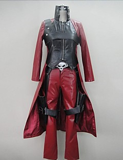 geinspireerd door Devil May Cry Cosplay Video Spel Cosplay Kostuums Cosplay Kostuums Patchwork  Rood Lange mouwJas / Broeken /