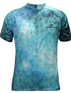 JESOCYCLING® Cycling Jersey Men's Short Sleeve Bike Breathable / Quick Dry Jersey / Tops Polyester Plaid/Check Spring / Summer