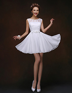 A-line/Princess Bateau  Short/Mini Bridesmaid Dress(819)