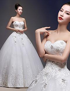 Hochzeitskleid Duchesse-Linie - Bodenlänge - Herz-Ausschnitt