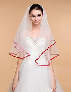 Nunta voalează elegante tul stras-un ciclu de voaluri de margine panglică pentru femei