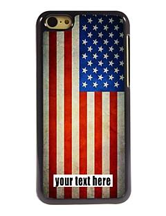 capa personalizada caixa de metal do projeto da bandeira americana para iphone 5c