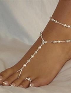 Dames Enkelring /Armbanden Parel Modieus Sexy Bal Wit/Wit Vrouwen Sieraden Voor Strand Bikini 1 stuks