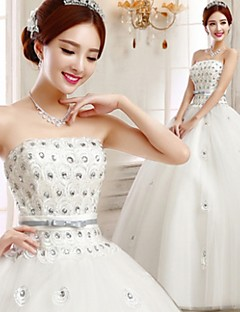 Ball Gown Wedding Dress - White Floor-length Strapless
