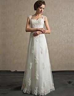 웨딩 드레스-A-라인 스윗하트 레이스
