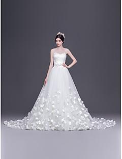 웨딩 드레스 - 화이트 A 라인/프린세스 쿼트 트레인 스윗하트 튤