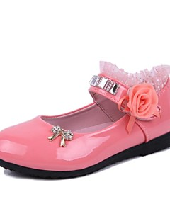 Girls' Shoes Mary Jane Round Toe  Flat Heel  Flats with Satin Flower More Colors available