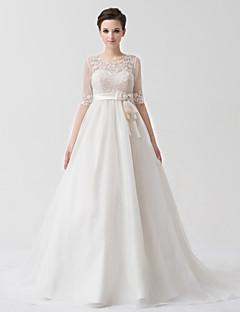 웨딩 드레스 - 화이트&샴페인(색상은 모니터에 따라 다를 수 있음) 프린세스 바닥 길이 스윗하트