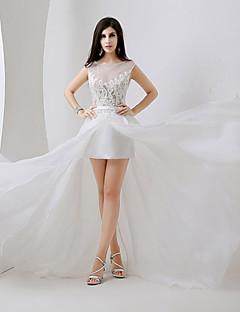 웨딩 드레스 A 라인 채플 트레인/바닥 길이 스트랩 플러스 사이즈