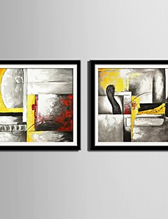 E-HOME® Framed Canvas Art,Abstract Framed Canvas Print Set of 2