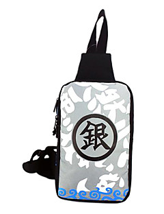Bag Inspired by Gintama Gintoki Sakata Anime Cosplay Accessories Bag Gray Canvas Male / Female
