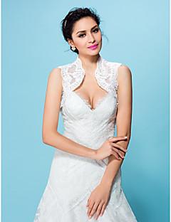 boda envuelve boleros de encaje blanco / encogimiento de hombros del bolero de color beige