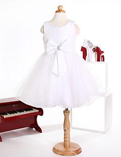 Flower Girl Dress Princess Tulle Jewel Sleeveless  Knee-length Dress