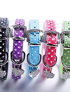 Katzen / Hunde Halsbänder Regolabile/Einziehbar / Cosplay Schwarz / Grün / Blau / Rosa / Purpur PU Leder
