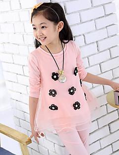 Girl's Fashion Clothing Sets(Print Blouse & Vest & Legging)