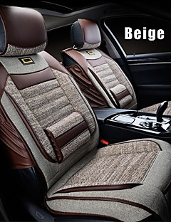 Flax 6 PCS Set All Seasons General Car Seat Covers Protection Seat Universal Fit Car Accessories
