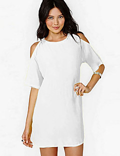 YFJWomen's Sexy/Casual Short Sleeve Dresses (Cotton)