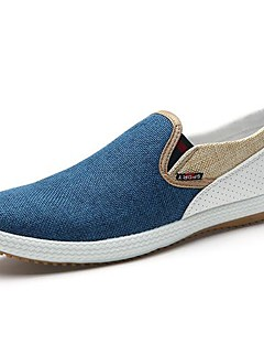 Heren Loafers & Slip-Ons Lente Zomer Comfortabel Canvas Casual Platte hak Blauw Beige Groen