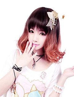 Zipper Elegant Fairy Brown Short Bob Classic Lolita Wig