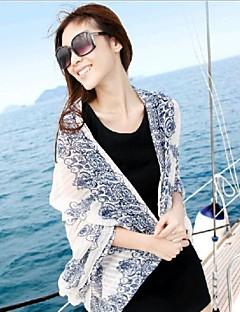 sjaler voile / polyester elegante klassiske print tørklæder (flere farver)