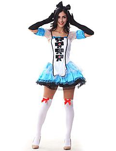 Costumi Cosplay Vestito da Serata Elegante Da principessa Fiabe Feste/vacanze Costumi Halloween Blu CollageAbito Accessori per capelli