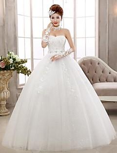 Vestido de Noiva-De Baile Tomara que Caia Longo Renda
