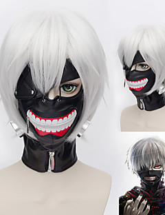 Tokyo Ghoul Ken Kaneki Silver White Short Straight Anime Cosplay Wig