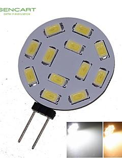 Spot LED Décorative Blanc Chaud / Blanc Froid SENCART 1 pièce MR11 G4 6W 12 SMD 5730 450-550 LM DC 12 / AC 12 / AC 24 / DC 24 V