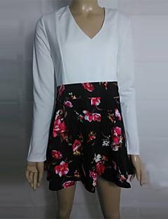 Коко Чжан всего матча V шеи цветочный мини-платье