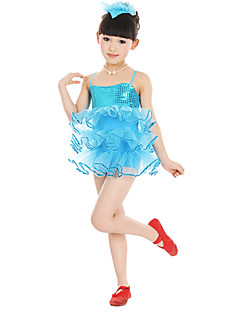 Ballet Performance Dresses Children's Performance Polyester/Tulle Flower Dress Blue/Fuchsia/Yellow Kids Dance Costumes