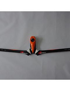 NEASTY Full Carbon Fiber Mountain Bike Stem Handlebar 3K Orange and White Painted Stem Handlebar