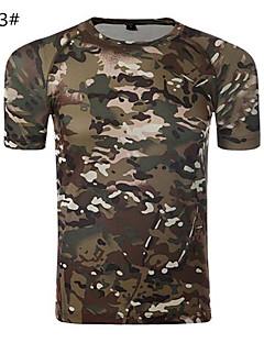 アウトドア 男女兼用 Tシャツ キャンピング&ハイキング / 狩猟 / フィットネス 高通気性 / 抗紫外線 / 透湿性 / 速乾性 / wicking / ビデオ圧縮 春 / 夏 迷彩柄 M / L / XL / XXL