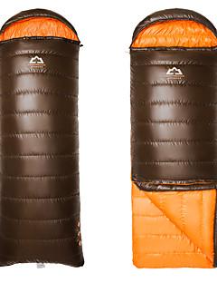 침낭 직사각형 침낭 싱글 -15°C~-10°C 오리다운 650g 185cm+35cm X 80cm 하이킹 / 캠핑 / 바닷가 / 낚시 / 여행 / 수렵 / 야외 / 실내 호흡 능력 / 바람 방지 / 따뜻함 유지 / 압축 / 추운 날씨