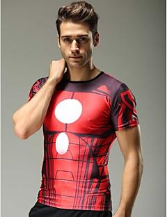 Tops/T-shirt - Tops/T-shirt ( Rouge ) de Fitness/Sport de détente/Cyclisme/Course - Respirable/Séchage rapide/Compression  à Demi-manche