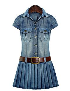 Women's Plus Size Blue Denim Dress